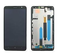 Дисплей (модуль) + тачскрин (сенсор) с рамкой для Nokia Lumia 1320