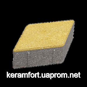 """Тротуарная плитка """"Ромб"""" жёлтая, 40 мм"""