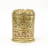 Коллекционная латунная пепельница, латунь, ручная гравировка, Индия, фото 1