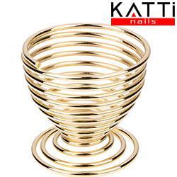 KATTI Подставка для спонжа - яйцо metal 04 Gold R золото круглая