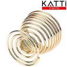 KATTI Подставка для спонжа - яйцо metal 04 Gold R золото круглая, фото 2