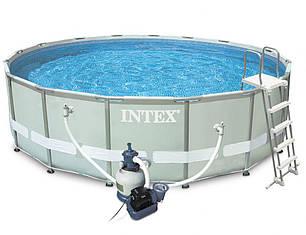 Круглый каркасный бассейн Intex 28310 Ultra Frame (427х107), фото 2