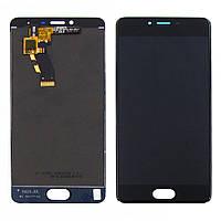 Дисплей для MEIZU M3s с чёрным тачскрином