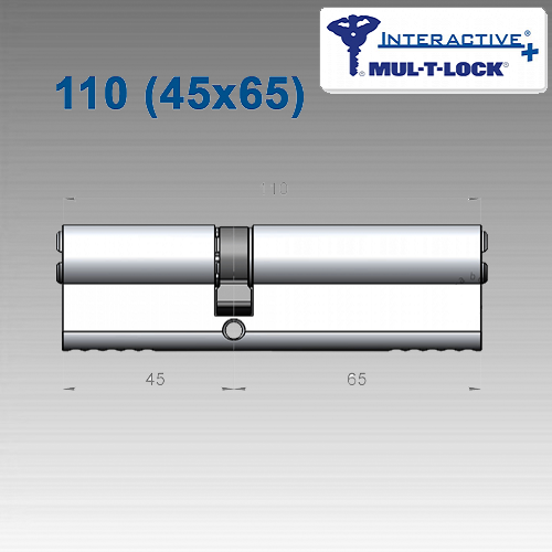 Цилиндр Mul-T-Lock Interactivе+ 110 мм (45х65)