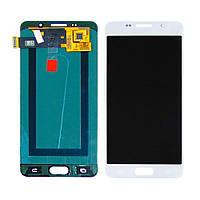 Дисплей для SAMSUNG A510 Galaxy A5 (2016) с белым тачскрином оригинал