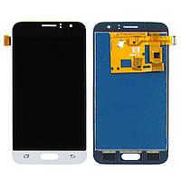 Дисплей для SAMSUNG J120 Galaxy J1 (2016) с чёрно-белым тачскрином, с регулируемой подсветкой