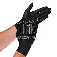 Перчатки нитриловые без талька Medicom 1187-C 1 пара, черные М