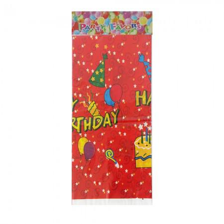 Скатерть Happy Birhtday красная