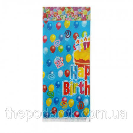 Скатерть Happy Birhtday синяя