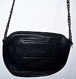 Женский золотистый клатч с ремешком на пояс и цепочкой на плечо 19*14 см, фото 2
