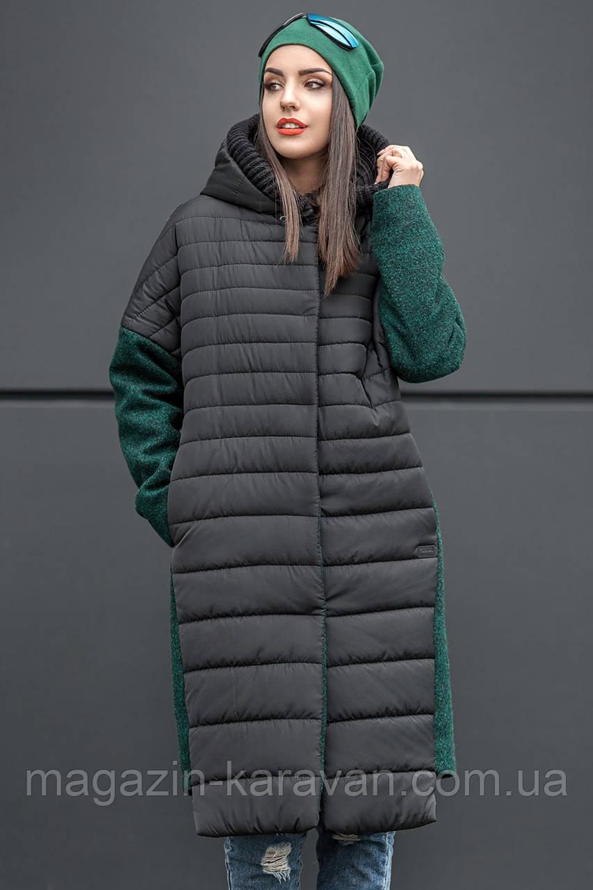 Модное зимнее пальто Susie бутылка(42-48)