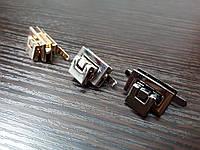 Замок сумочный A-5 цвет никель размер 23*13мм