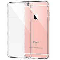 Силиконовый прозрачный чехол накладка 0,3 мм для iPhone 6+/6s+