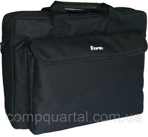 """Сумка для ноутбука Porto PC-15BK 15.6"""" чорна"""