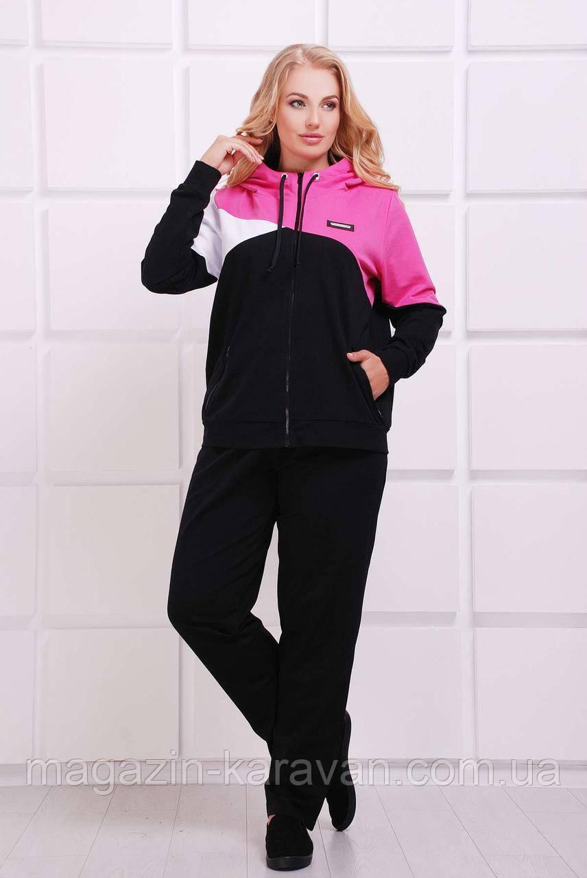 Яркий спортивный костюм ПРАТО розовый (54-60)