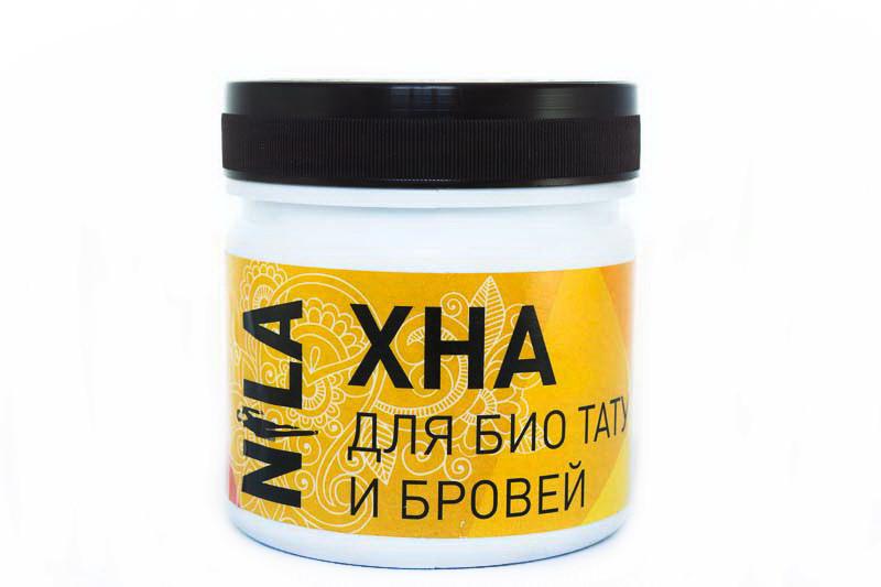 Хна для бровей и биотату Nila черная 100г