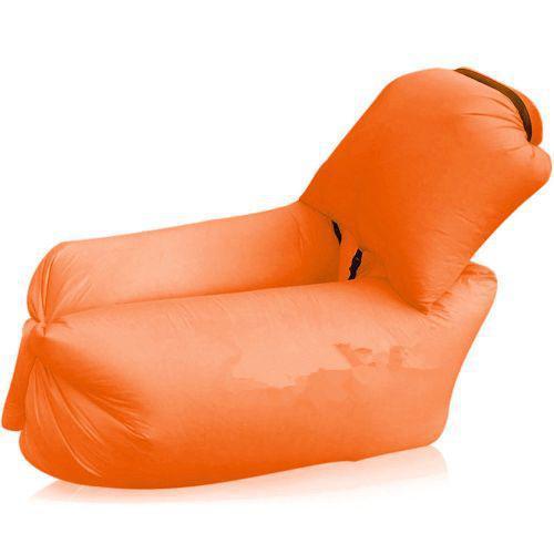 Надувной шезлонг диван мешок Ламзак Lamzac AIR SOFA-4 с подушкой 2.4M Orange
