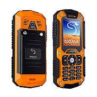 Телефон Sigma Х-treme IT67 чёрный-оранжевый