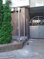 Откатные ворота, забор металлический (Киев, Посольство Франции в Украине) 3