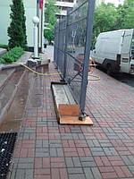 Откатные ворота, забор металлический (Киев, Посольство Франции в Украине) 4