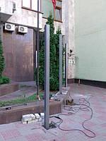 Откатные ворота, забор металлический (Киев, Посольство Франции в Украине) 7