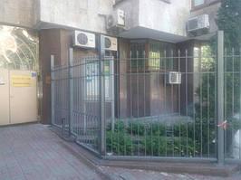 Откатные ворота, забор металлический (Киев, Посольство Франции в Украине) 9