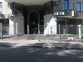 Откатные ворота, забор металлический (Киев, Посольство Франции в Украине) 11
