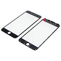Стекло тачскрина для APPLE iPhone 6 Plus чёрное с рамкой и OCA плёнкой Н/С
