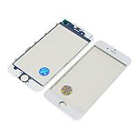 Стекло тачскрина для APPLE iPhone 6 белое с рамкой и OCA плёнкой оригинал (TW)