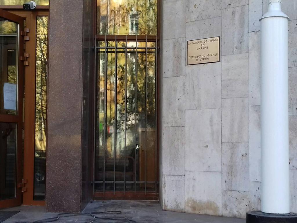 Решетки на окна, двери (Киев, Посольство Франции в Украине)