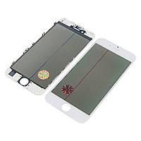 Стекло тачскрина для APPLE iPhone 6S белое с рамкой, OCA и поляризационной плёнкой Н/С