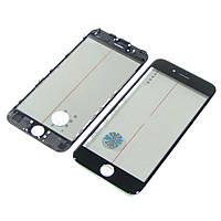 Стекло тачскрина для APPLE iPhone 6S чёрное с рамкой, OCA и поляризационной плёнкой Н/С