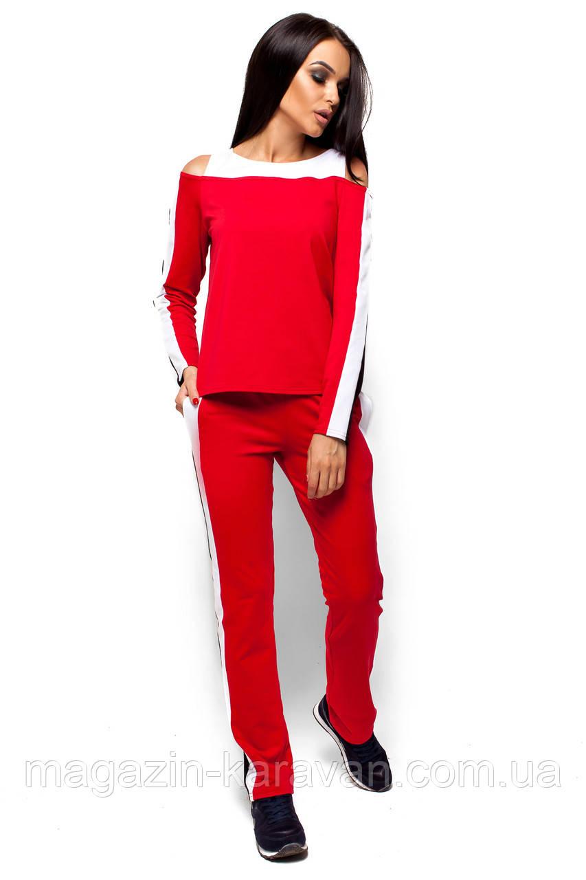Спортивный костюм с лампасами Диего красный (S,M,L)