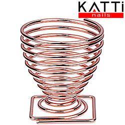 KATTI Подставка для спонжа - яйцо metal 08 Grose S розовое золото квадрат, фото 2
