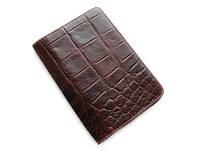 Обложка для паспорта из натуральной кожи, фактура крокодил
