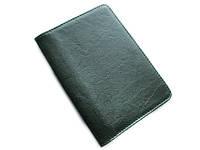 Темно-зеленая обложка для паспорта из натуральной кожи
