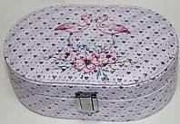 Розовая шкатулка для украшений, маленькая, Фламинго, фото 1