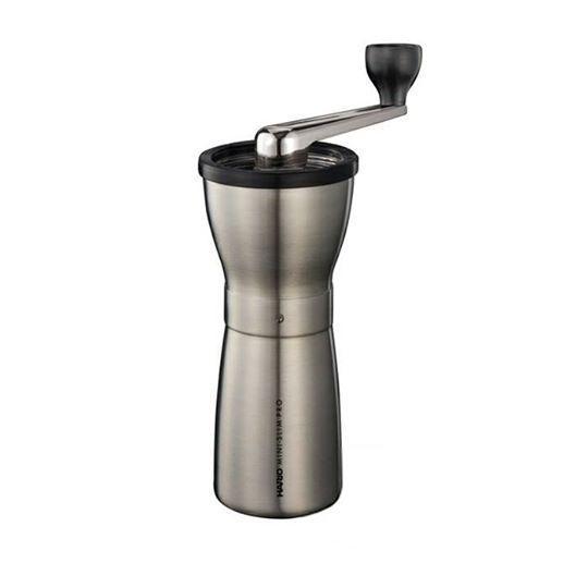 Кофемолка HARIO Мини Милл Слим ПРО серая с керамическими ножами и регулировкой помола MMSP-1HSV