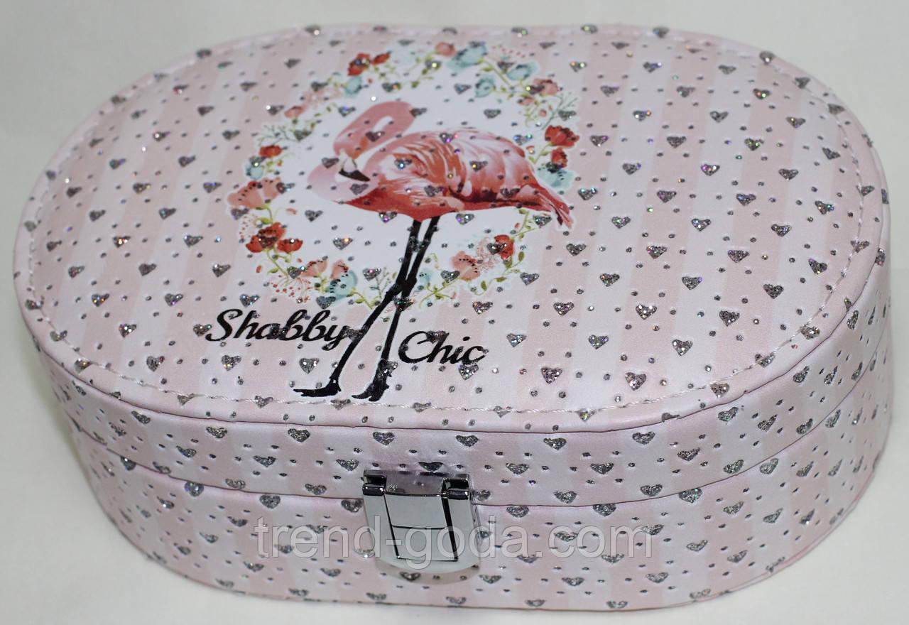 Коралловая шкатулка для украшений, маленькая, Фламинго