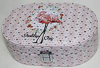 Коралловая шкатулка для украшений, маленькая, Фламинго, фото 1