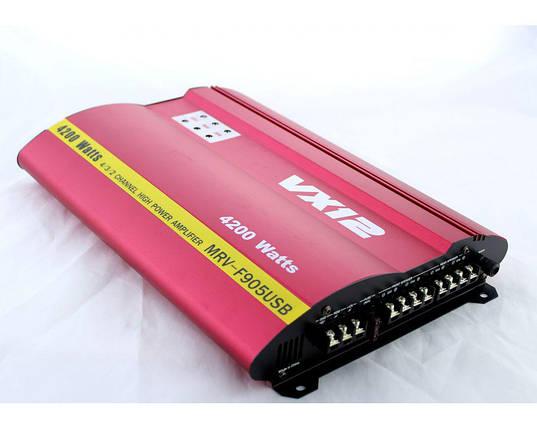 Усилитель мощности звука  CAR AMP MRV 905 usb+ SD слот басс 12Дб, фото 2