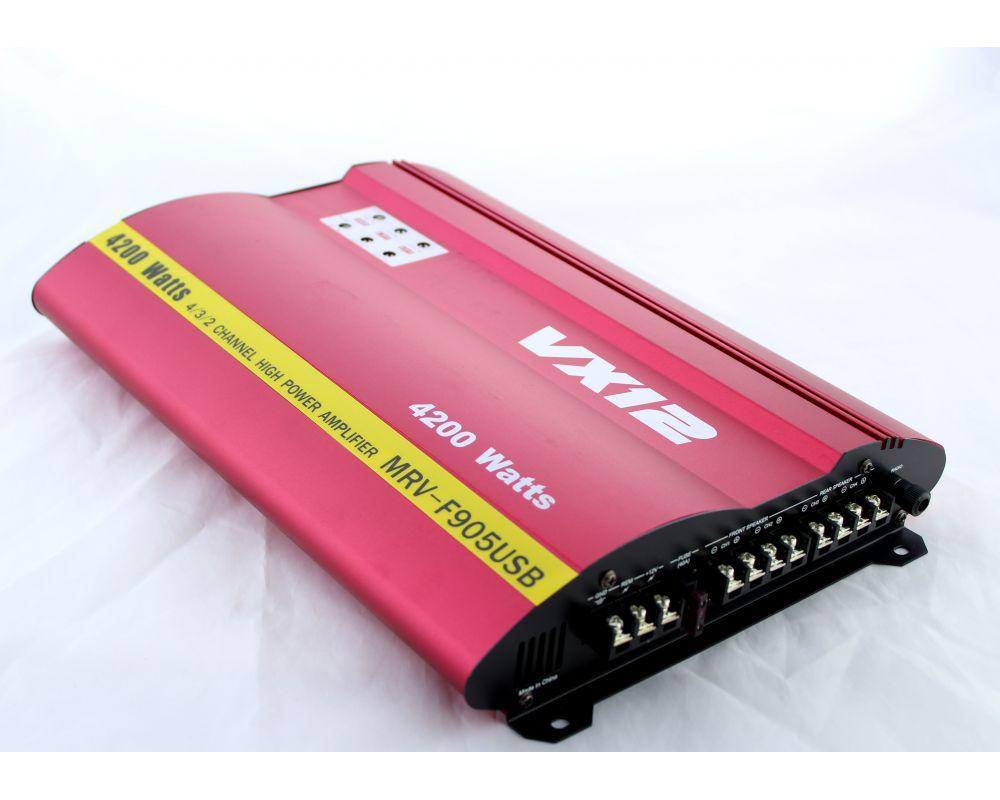 Усилитель мощности звука  CAR AMP MRV 905 usb+ SD слот басс 12Дб