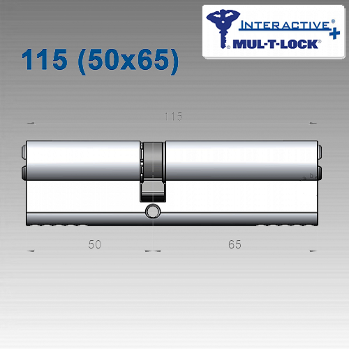 Цилиндр Mul-T-Lock Interactivе+ 115 мм (50х65)