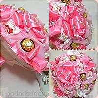 Букет из  конфет  Розовая роза