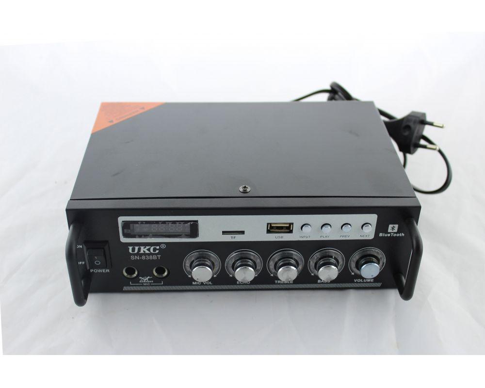 Усилитель звуковой частоты (УЗЧ) AMP SN 838 BT 2-х канальный усилитель автомобильный