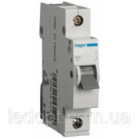Автоматический выключатель, 1п, 25А, 6кА Hager