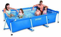 Бассейн каркасный Rectangular Frame Pool Intex 28270 (58983) (220х150х60 см. )
