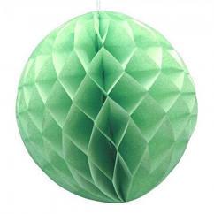 Бумажный шар соты 20 см (мятный)