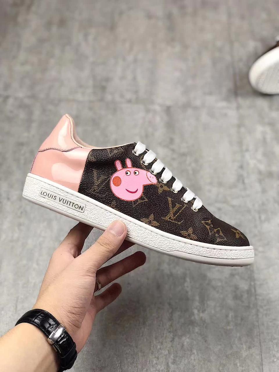 кроссовки Louis Vuitton X Peppa Pig реплика