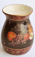 Аромалампа керамическая с цветами и фруктами Н-89-6